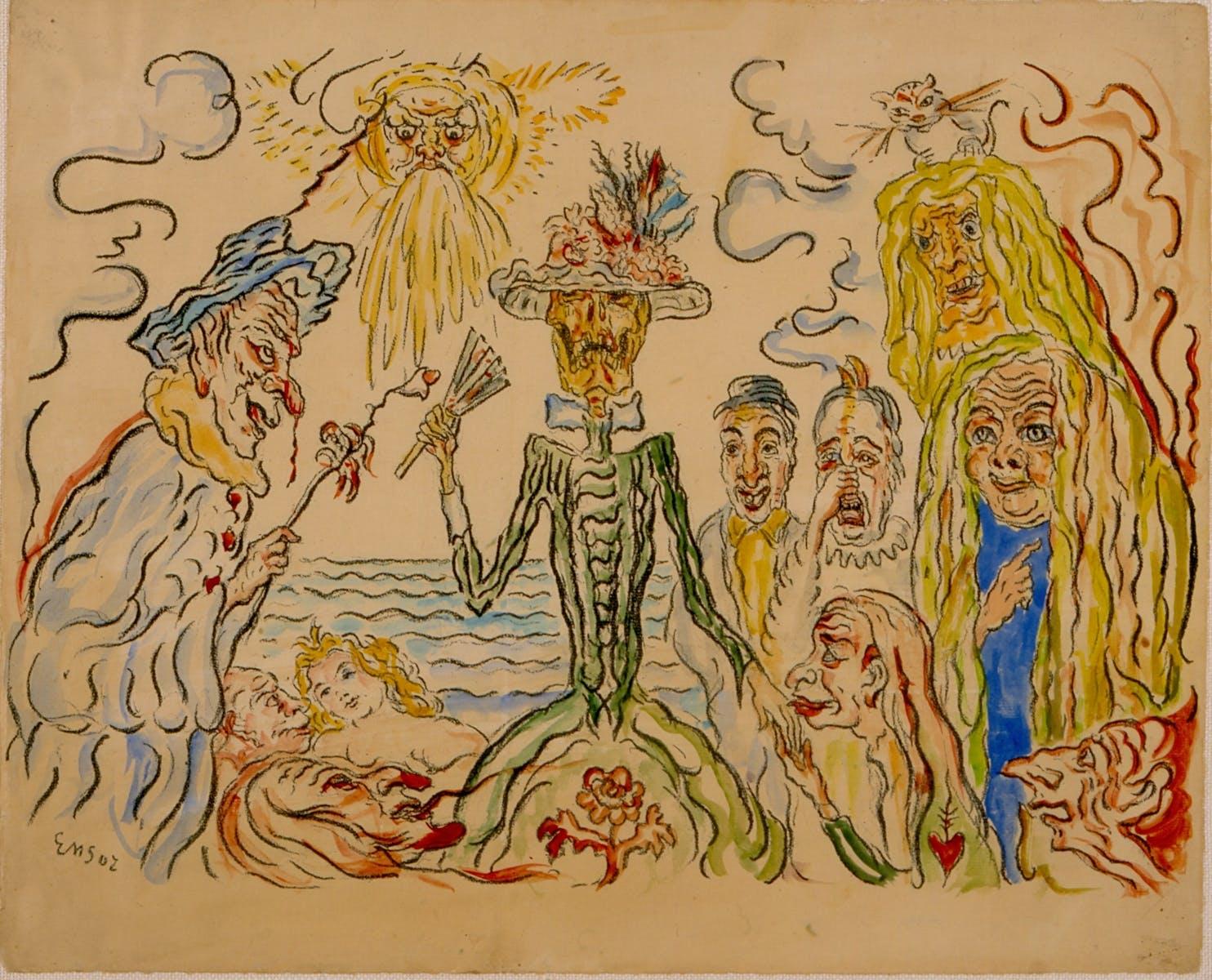 James Ensor, De kokette dood