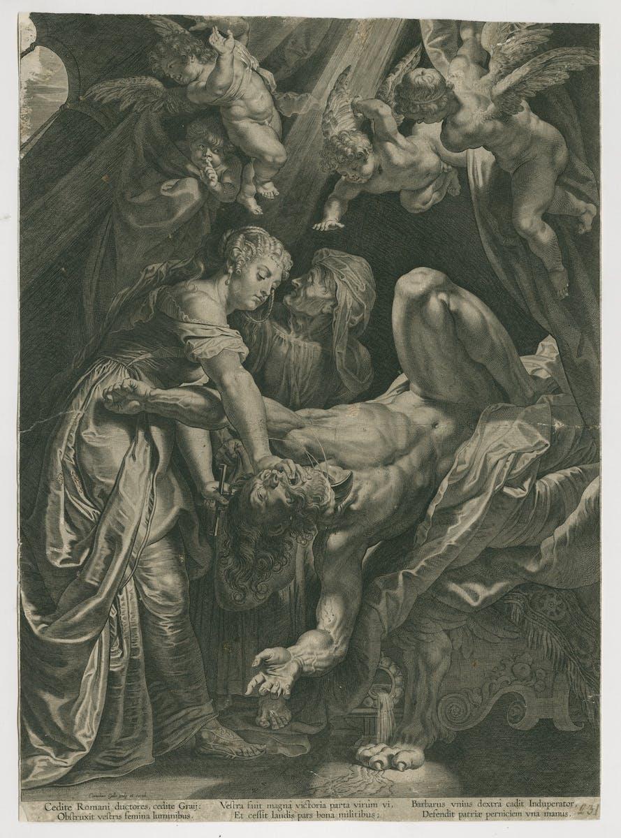 Peter Paul Rubens (ontwerper), Cornelis Galle I (graveur en uitgever), Judith onthoofdt Holofernes