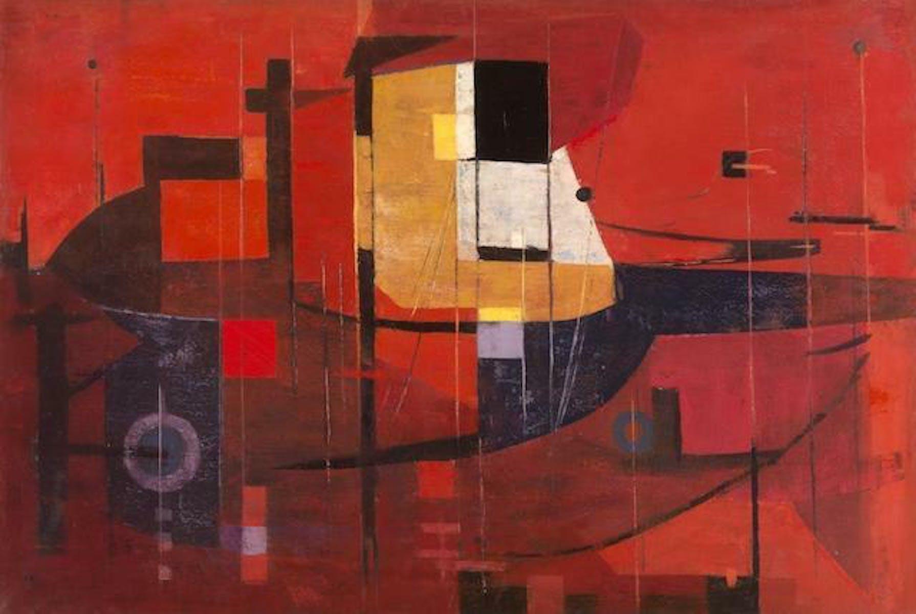 Antoon Marstboom, Compositie in rood