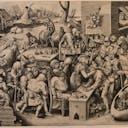 Pieter Bruegel the Elder, The Witch of Mallegem (Stone operation)