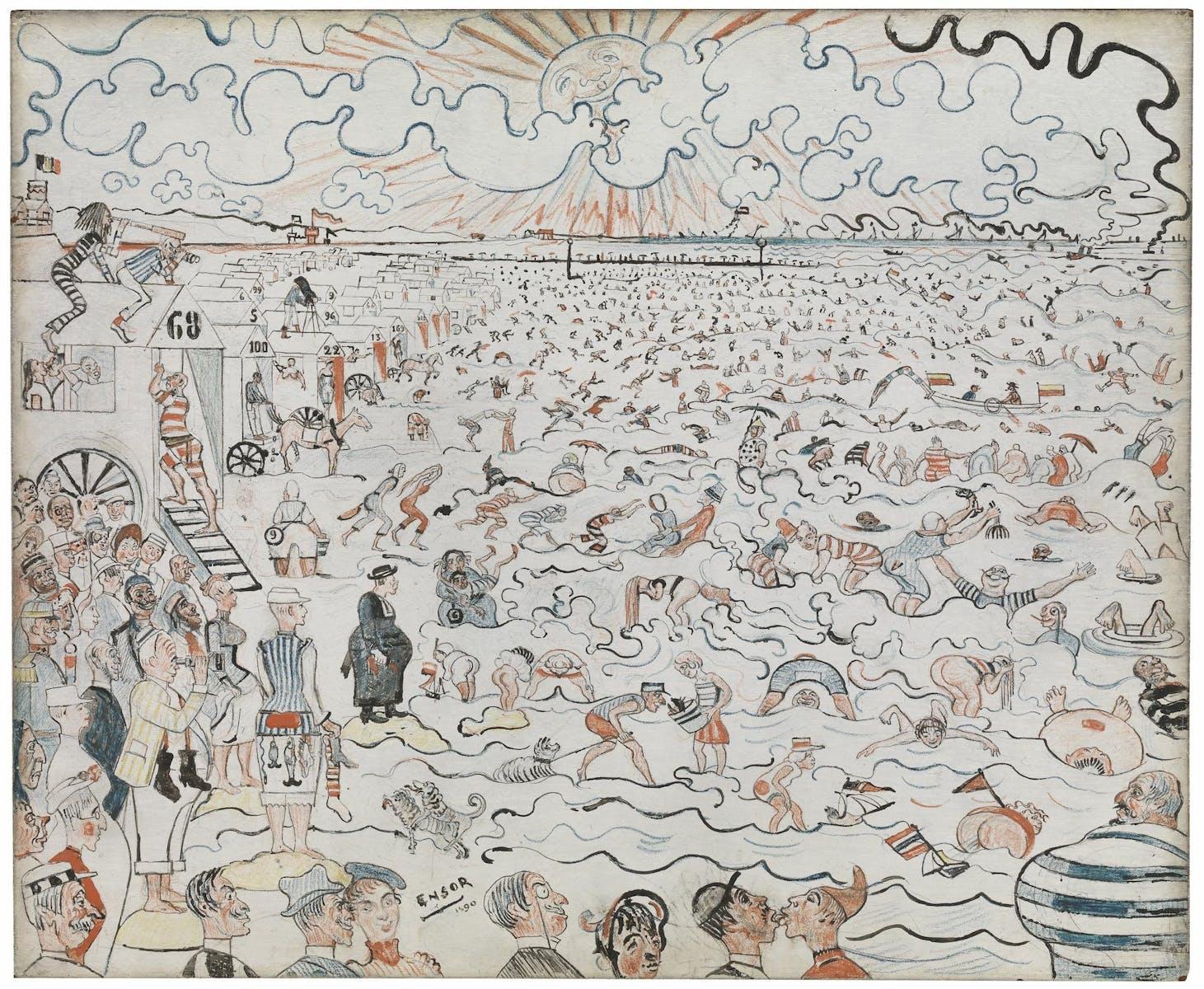 James Ensor, The Baths at Ostende