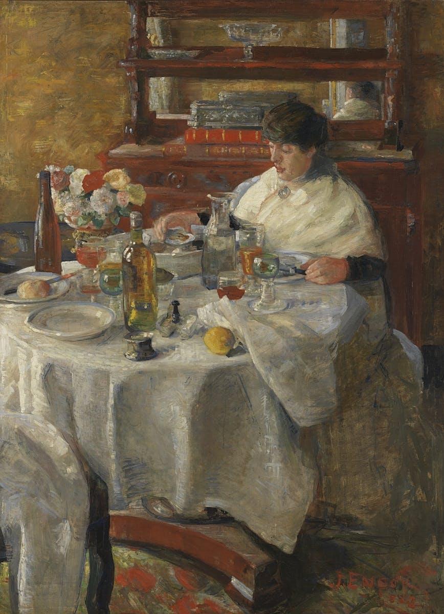 James Ensor, The Oyster Eater