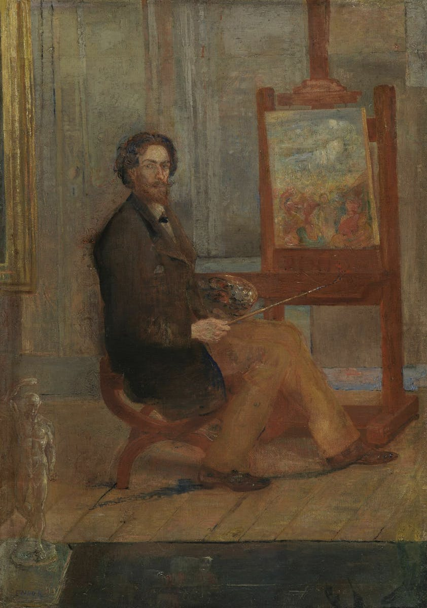 James Ensor, Ensor at his Easel