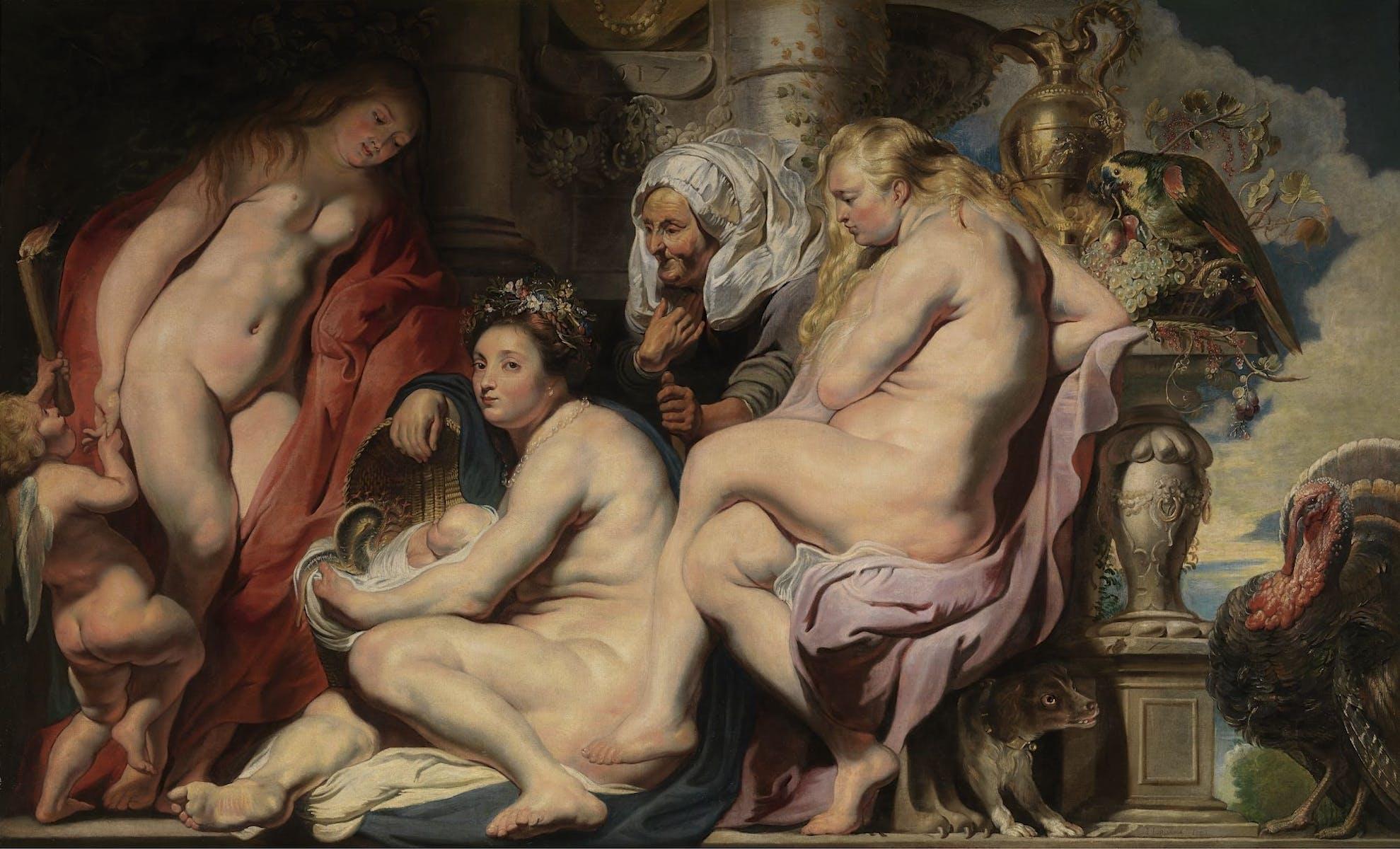 Jacob Jordaens I, De dochters van Cecrops vinden het slangenkind Erichthonius
