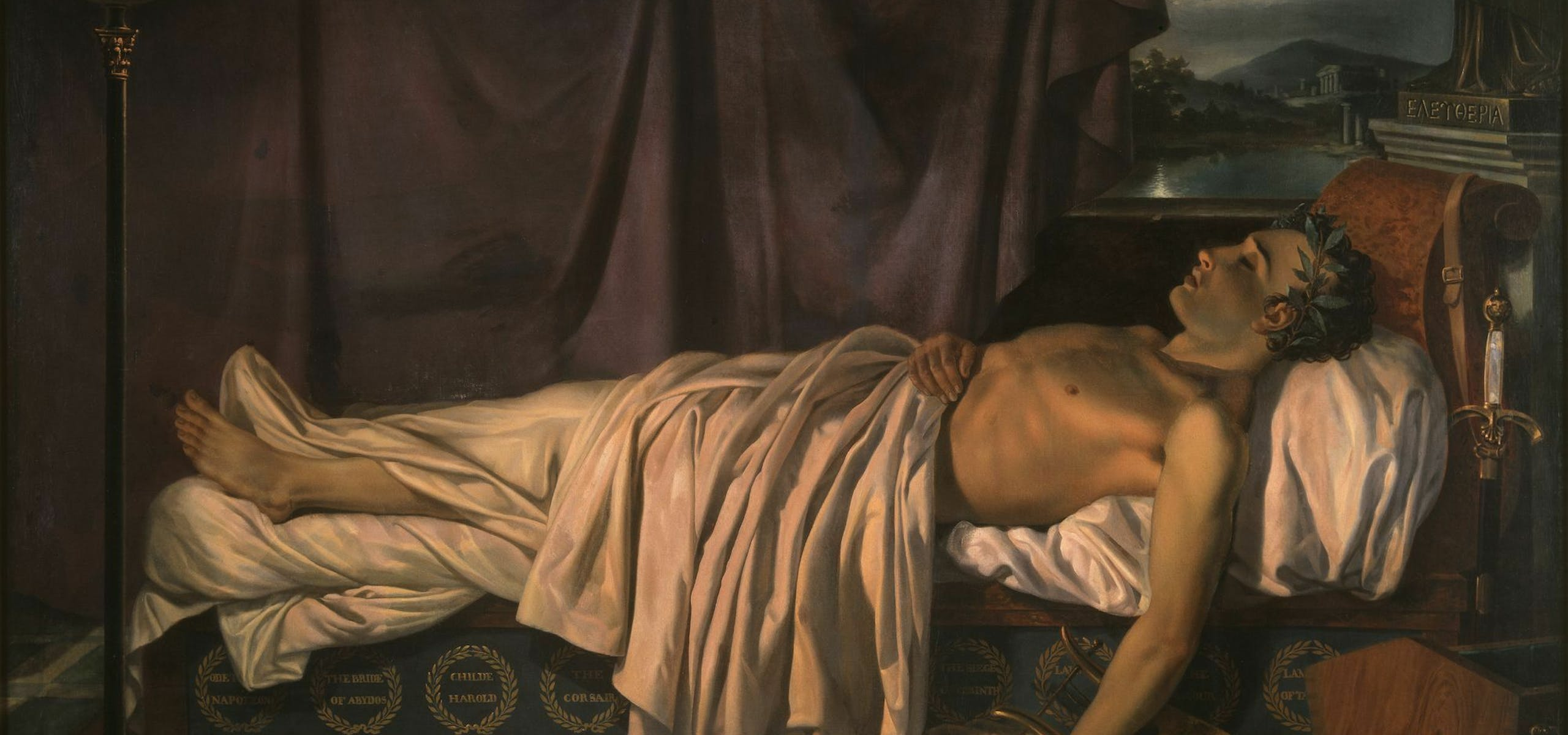Joseph-Denis Odevaere, Lord Byron on his deathbed