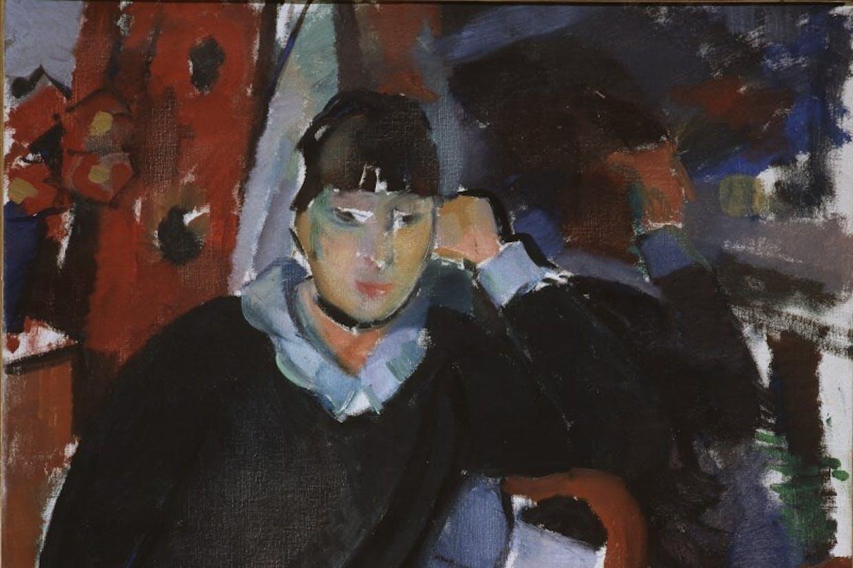 Rik Wouters, Zittende vrouw bij het venster / Portret van Nel Duerinckx, de vrouw van de kunstenaar